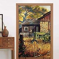 日本のれんタペストリー素朴な古い木造家屋のドアパッド綿の入り口の敷物の靴スクレーパーマシンドアカーテンパーティションスクリーンパネルカスタムタペストリー