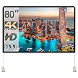 Best Portable Projection Screens - Projector Screen with Stand 80 inch Portable Projection Review