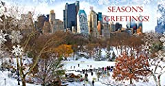 """Money Gift Cards Holders Set with photo of famous New York Landmarks Fit any Currency, Checks and Gift Cards. 100# fine card stock. Greeting Inside: """"Best Wishes for a Happy New Year"""" Card Size 3 1/4 x 6 1/4 inch (with inner flap). White envelopes #7..."""