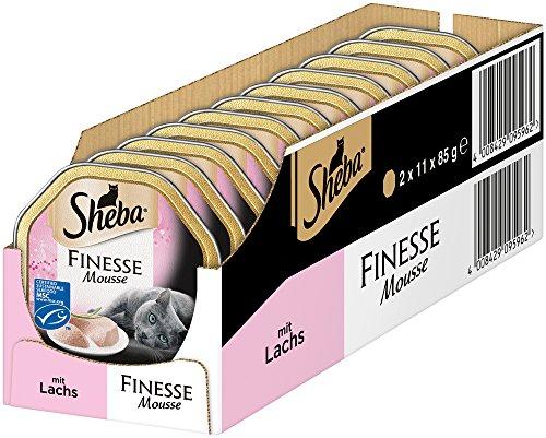 """Sheba, cibo per gatti """"Finesse mousse"""", in scatola - 22 ciotole"""