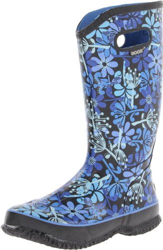Hot Sale Bogs Women's Rainboots Make A Wish Boot,Black Multi,7 M US