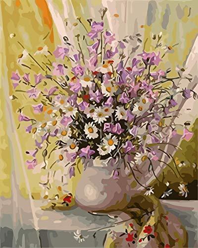 Rompecabezas 1000 Piezas Flores De Colores Junto A La Ventana Jarrones Frente A Las Cortinas. Puzzle En Bois De Bricolage Un Cadeau Unique