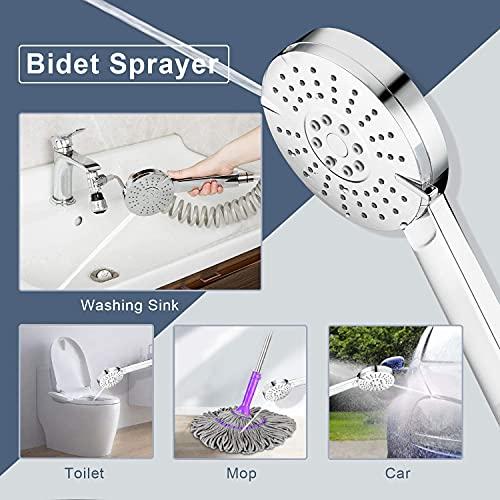 Sink Faucet Sprayer Attachment Kitchen-Bathroom-Utility - Shower Head to Bathtub/Garden for Pet Dog Rinse