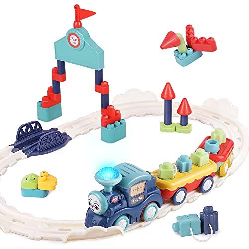iPlay, iLearn Musical Train Set Toys, Toddler Electric Railway Toy Train W/...