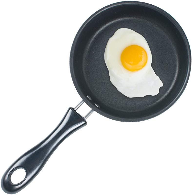 Genmine Nonstick Frying Pan Small Egg Pancake Round Mini Non Stick Fry Pan Dishwasher Safe Cookware 4 75 Inch