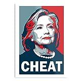 Hillary Clinton Design & Art Print Poster Wanddeko