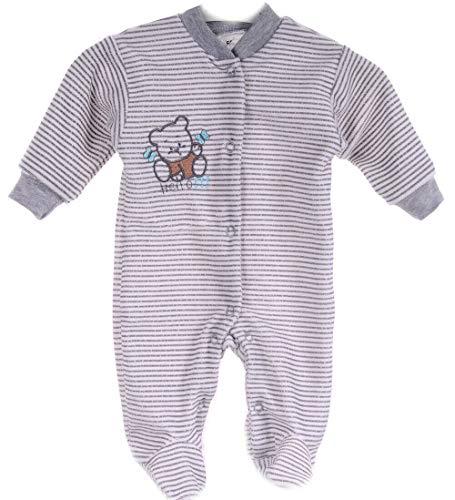 Strampler Schlafanzug Erstlingspyjama Nicki Overall Unisex Anzug Einteiler (62)