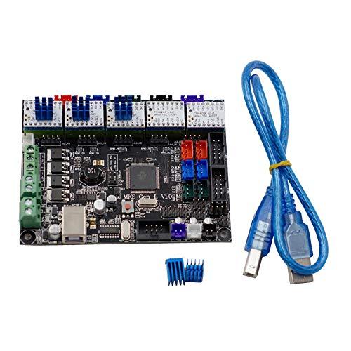 TONGDAUR 5pcs TMC2208 V1.0 Stepper Motor Driver Compatible + MKS-GEN L V1.0 Contrôleur intégré Mainboard Ramps1.4 / Mega2560 R3 for la 3D imprimante Accessoires imprimante 3D