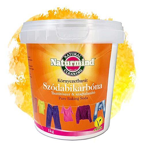 Naturmind Natron Pulver 1000g | Backpulver | Baking Soda | Natriumhydrogencarbonat | Backsoda | Natriumbicarbonat | Lebensmittelqualität | Ideal für Brot & Süßen Backwaren