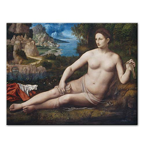 leomuzi Bernardino Luini Famous Canvas Paintings On The Wall Posters and Prints Portrait of Venus Wall Pictures for Living Room-60x80cm No Frame