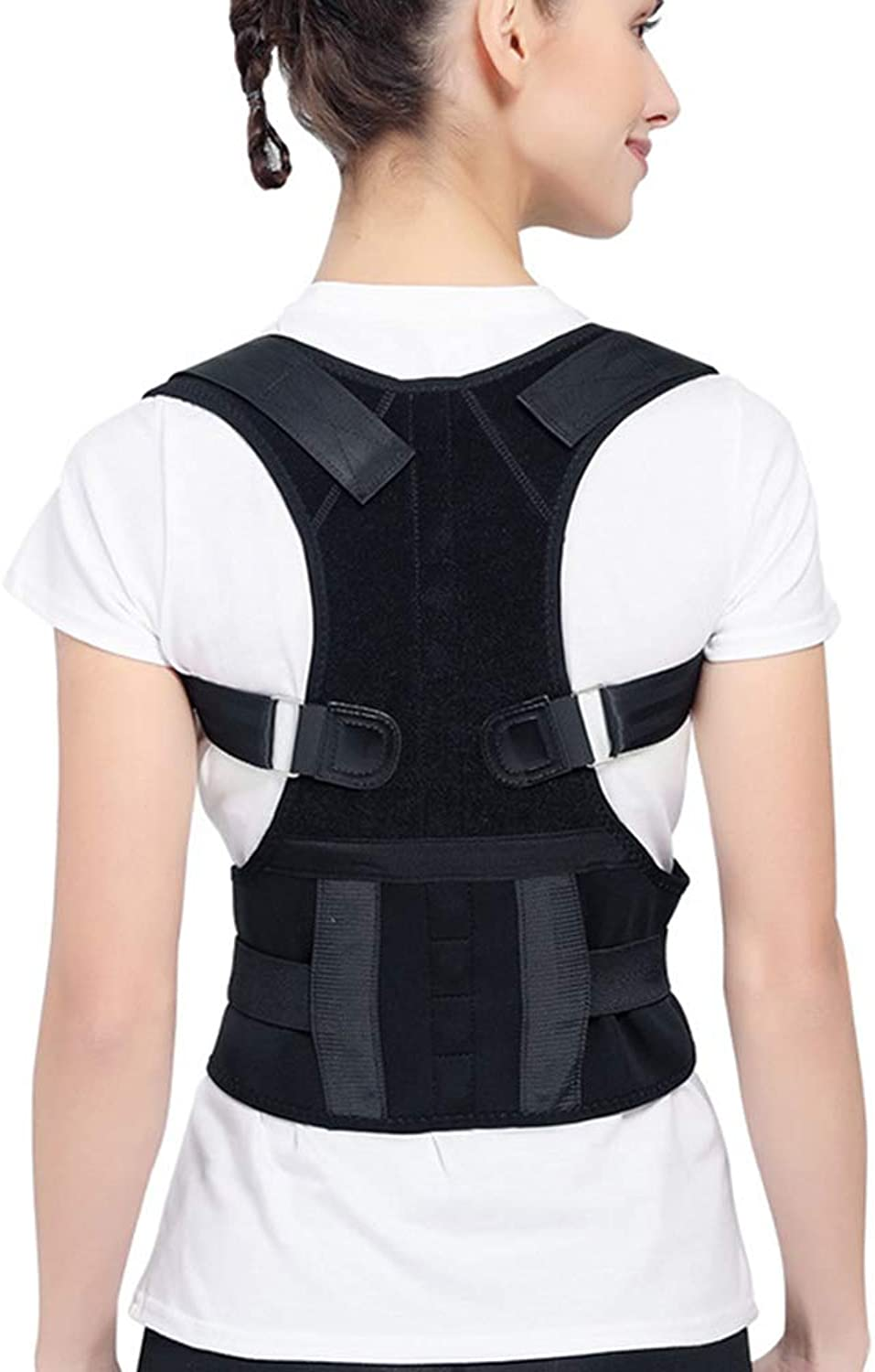Posture Corrector Magnetic Correction Belt Humpback Styling Back Fixation Sitting Position Correction (color   S)