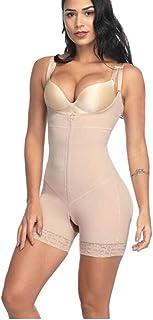 مشبك وسحاب الخصر رباط تنحيف مشد الجسم حزام رفع المؤخرة مشد الجسم ملابس داخلية للنساء (اللون: بيج، الحجم: X-Large)