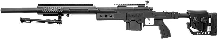 Fucile softair swiss arms softair sas 10 sniper a molla spring (0.5 joule)-consegnato con bipiede 280734