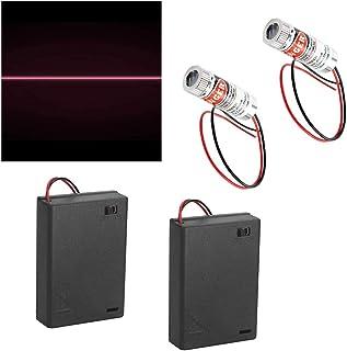 CTRICALVER 2 個リニアレーザー650 nmフォーカス可能レーザーモジュールリニアレーザーフォーカス調整可能レーザーレベルレッド3-5Vプラスチックレンズ+ 2個AAバッテリーホルダー