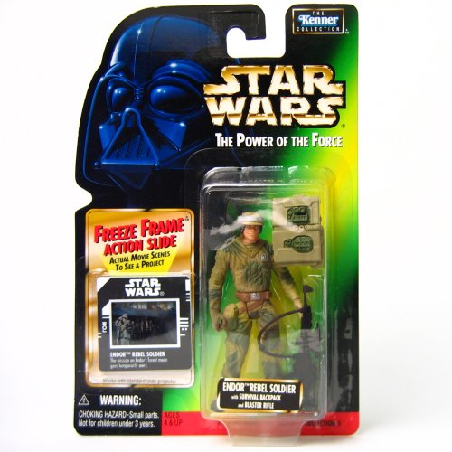 Star Wars Action Figur 69716 – Endor Rebel Soldier (INKL. Freeze Frame Action Slide)
