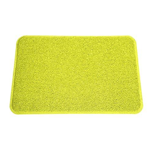 Smartcatcher Color Splash Kitchen Rugs and Mats, 36'x24', Lemon Lime Green