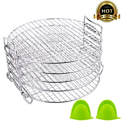 Review Dehydrator Stand For Ninja Foodi Accessories and Air Fryer, 6.5 & 8 qt Dehydrator Rack, Food ...