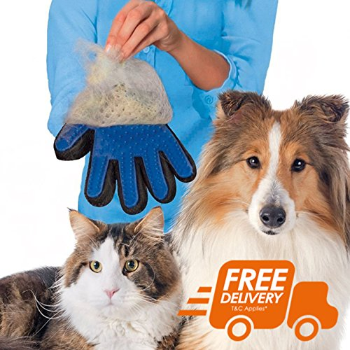 Furniture Direct Pet Dog Cat Grooming Glove Dirt Hair Remover Brush Glove for Gentle Deshedding