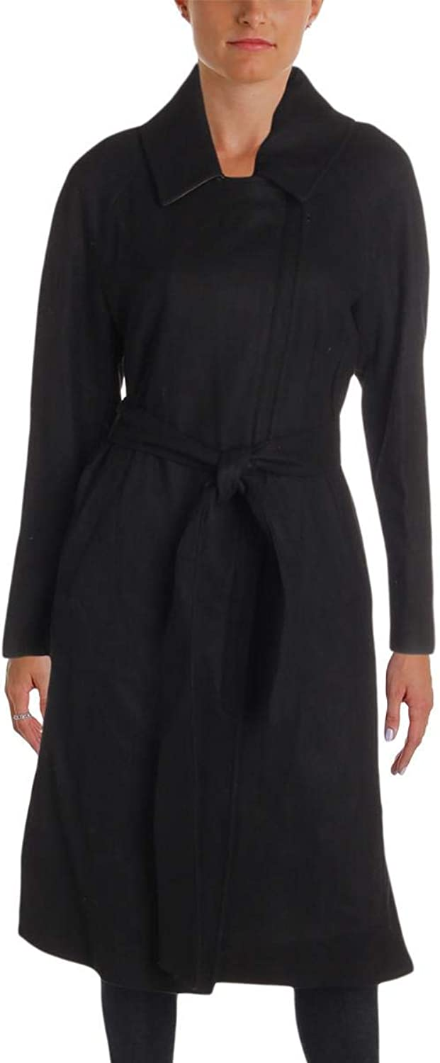 Andrew Marc Womens Baylee Winter Wool Blend Midi Coat