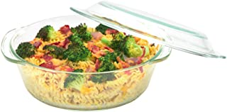 Moss & Stone 3 Glass Casserole Dish With Lid Made By Borosilicate Glass Material 4.5mm To 5mm Thick, Set Of 3 Deep Dish He...