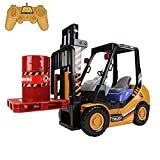 Remote Control Forklift Trucks with Front Loader and Cargo 6CH 4WD RC Construction Vehicle Lifting Toy Model Engineering Car Gift for Kids Adults