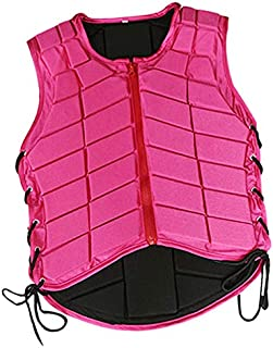 Prettyia Horse Riding Vest Equestrian Body Protector Safety EVA Padded Breathable Adjustable Waistcoat Plus Size