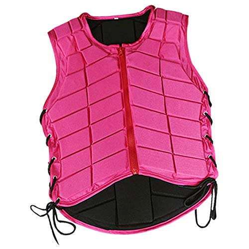 Prettyia Horse Riding Vest Equestrian Body Protector Safety EVA Padded Breathable Adjustable Waistcoat Plus Size - Pink, Kids-S