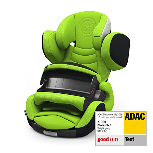 Kiddy Phonenixfix 3 Siège auto Groupe 1 (groupe 1) 9 ans à 4 ans (env. 9 kg avec Isofix Collection 2019 Lizard Green