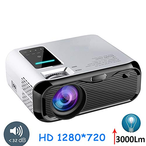 HD Mini Projector, Portable 1280 * 720 3000 lumen LED Video Projector, HDMI Home Media Player Best Gift