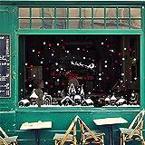 Etiqueta de la pared Snow Flake House Castle Christmas Window Window White Christmas Home Shop Showcase Stickers Etiqueta de la pared Calcomanía Festival Drop Ship