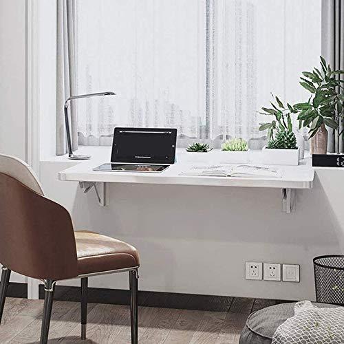 ZLLF Mesa De Comedor De Pared Plegable, Escritorio De Pared De Madera Maciza, Escritorio De Computadora De Oficina, Mesa De Centro, Ahorro De Espacio, Rodamiento 30kg-60kg (Size : 80 * 40cm)