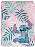 Disney Lilo & Stitch Misty Palm Throw Blanket - Measures 46 x 60 inches, Kids Bedding - Fade Resistant Super Soft Fleece (Official Disney Product)