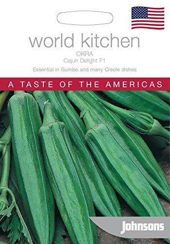 Samen-Paket: Johnsons World Kitchen Vegetable - Okra Cajun Delight F1-15 Samen