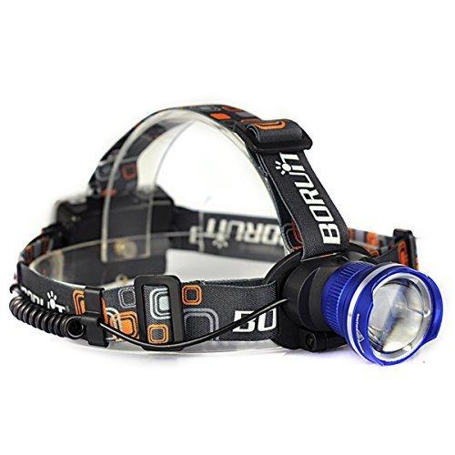 CREE LEDヘッドライト 新2000ルーメン ヘッドランプ 大型光学レンズ付ズーム 点灯3モード 単三電池対応 ...
