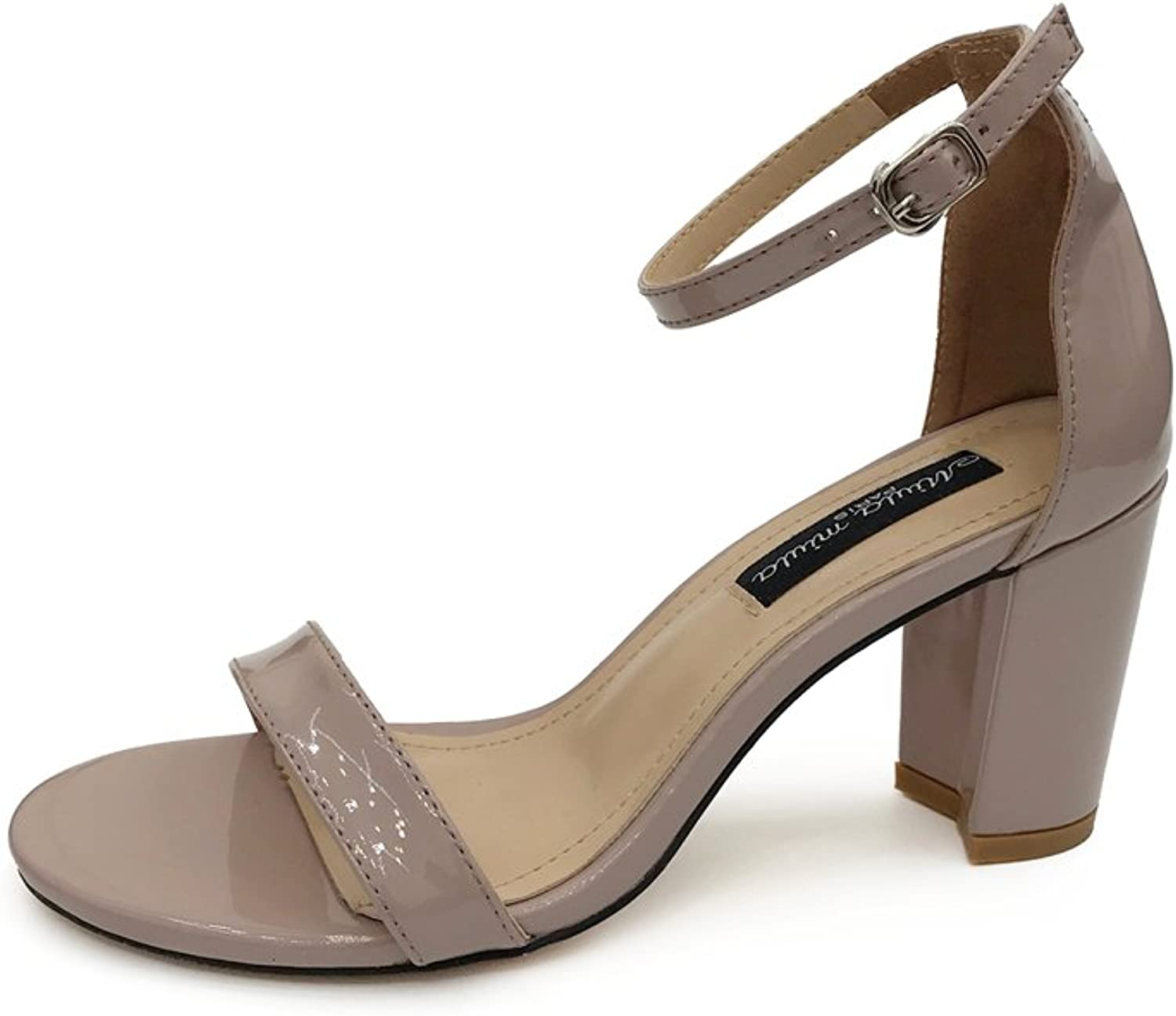 Jiang Womens's shoes Female Summer New Sexy Comfortable Thick with Simple Wild High-Heeled Sandals shoes Sandals