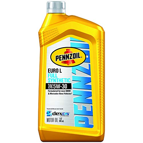 Pennzoil Platinum Euro Full Synthetic 5W-30 Motor Oil, 1 Quart
