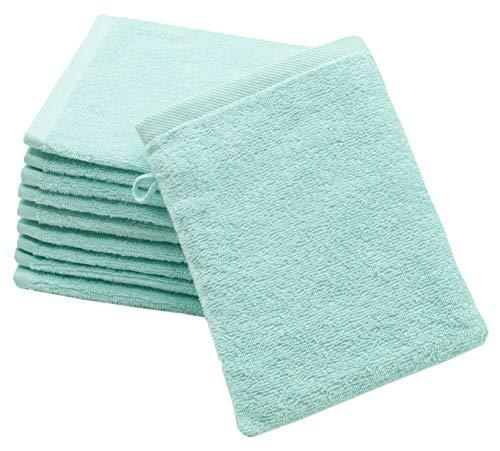 ZOLLNER 10er Set Waschlappen Baumwolle, 16x21 cm, Mint (weitere verfügbar)