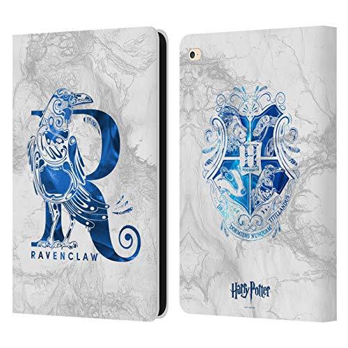 Head Case Designs Oficial Harry Potter Ravenclaw Aguamenti Deathly Hallows IX Carcasa de Cuero Tipo Libro Compatible con iPad Air 2 (2014)