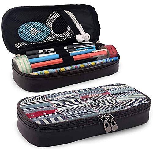 Bleistiftbeutel, federmäppchen tasche, federmäppchen, große kapazität langlebig nautisch nautisch wellig zusammensetzung 20cm * 9cm * 4cm