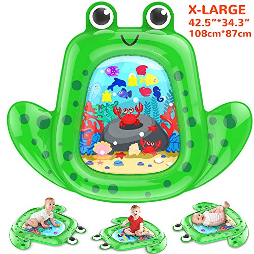 Crislove Tummy Time Baby Water Mat Infant Toy Inflatable Play Mat for 3 6 9 Months Newborn Boy Girl 76 * 60cm