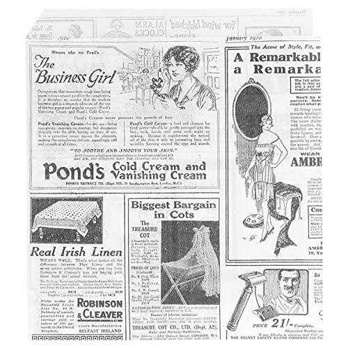 García de Pou - sacchetti aperti 2 lati, modello Times, 13 x 14 cm, bianco, 1000