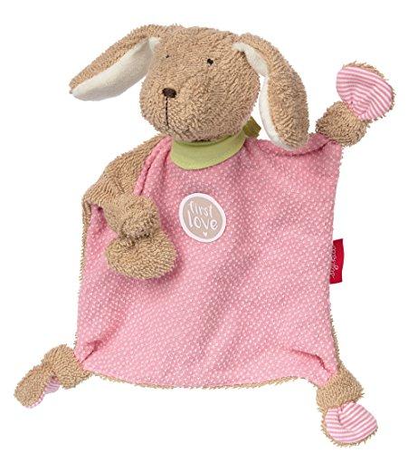 sigikid, Mädchen, Schnuffeltuch Hund, Die rosa Fine, Beige/Rosa, 38785