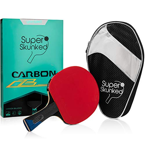 Super Skunked Carbon Balance Ping Pong Paddle/Tournament Table Tennis Racket/ITTF Approved Rubber/4 Star