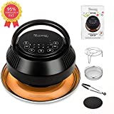 MICHELANGELO Air Fryer Lid for Instant Pot 6 Quart & 8 Quart, 8 In 1 Air Fryer Lid for Pressure Cooker, Turn Your Electric Pressure Cooker into Air Fryer, 8 Presets and 95% Less Oil Crisp Top for Better Crispy Tasty & Healthier Diet
