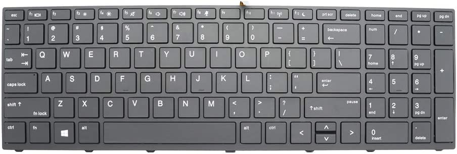 New Backlit Max 74% OFF Replacement Laptop Keyboard Probo HP Compatible with Beauty products