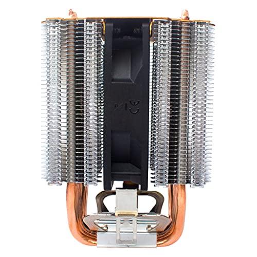 Cife CZ609P X79 X99 Refrigeración 3 Ventiladores 9cm 4pin Ventilador 6 Heatpipe CPU Enfriador para Intel LGA1150 1366 2011 para Radiador AMD AM3 AM4 (Color : Standard Edition, Size : 2 Fans)