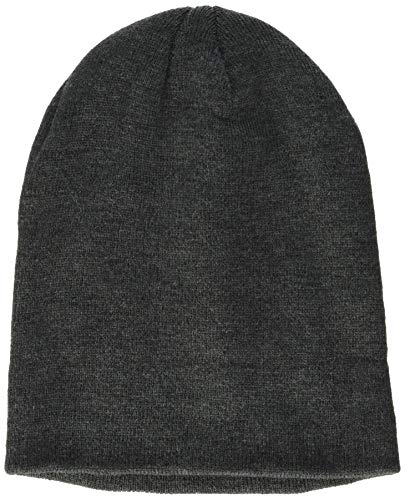 Build Your Brand Unisex-Adult Heavy Knit Beanie Hat, Charcoal, one Size