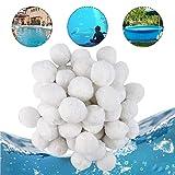Hospaop Bolas filtrantes de 1200 g, bolas de filtro para instalaciones de filtro de arena, bolas de filtro para bomba de piscina, filtro de cartucho de filtro de arena para piscina