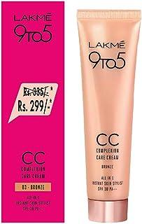 Lakmé 9 To 5 Complexion Care Face CC Cream, Bronze, SPF 30, Conceals Dark Spots & Blemishes, 30 g