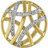 JOBO Damen-Anhänger aus 585 Gold Bicolor mit 31 Diamanten Rund